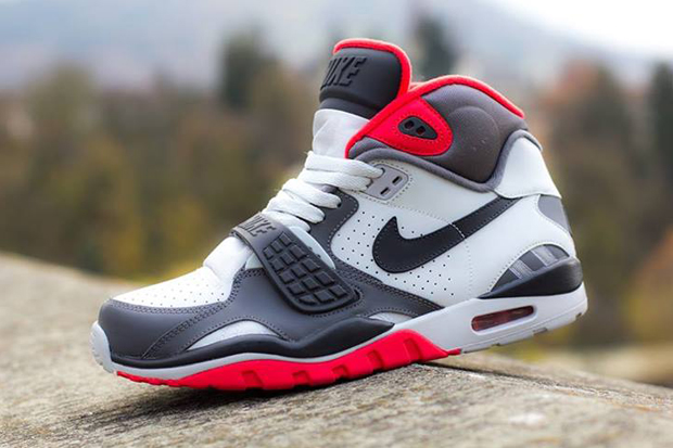 Nike Air Trainer SC II Pure Platinum/Dark Grey-Crimson