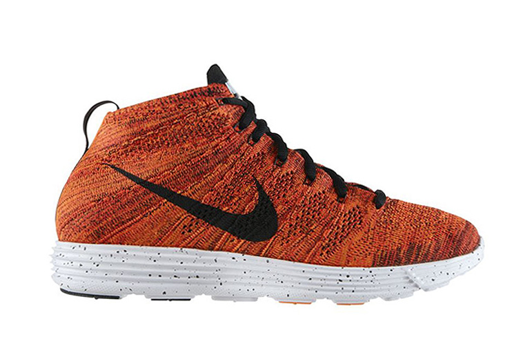 Nike Lunar Flyknit Chukka Bright Crimson/Black-Total Orange-White