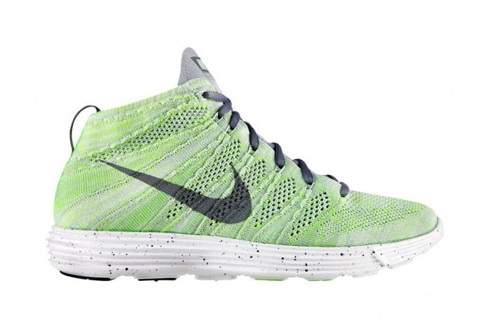 Nike Lunar Flyknit Chukka Wolf Grey/Electric Green