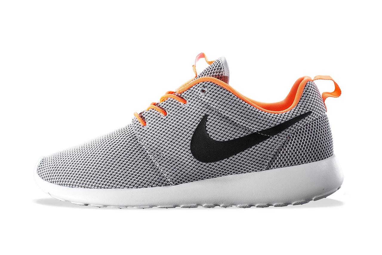 Nike Roshe Run Wolf Grey/Black-Atomic Orange