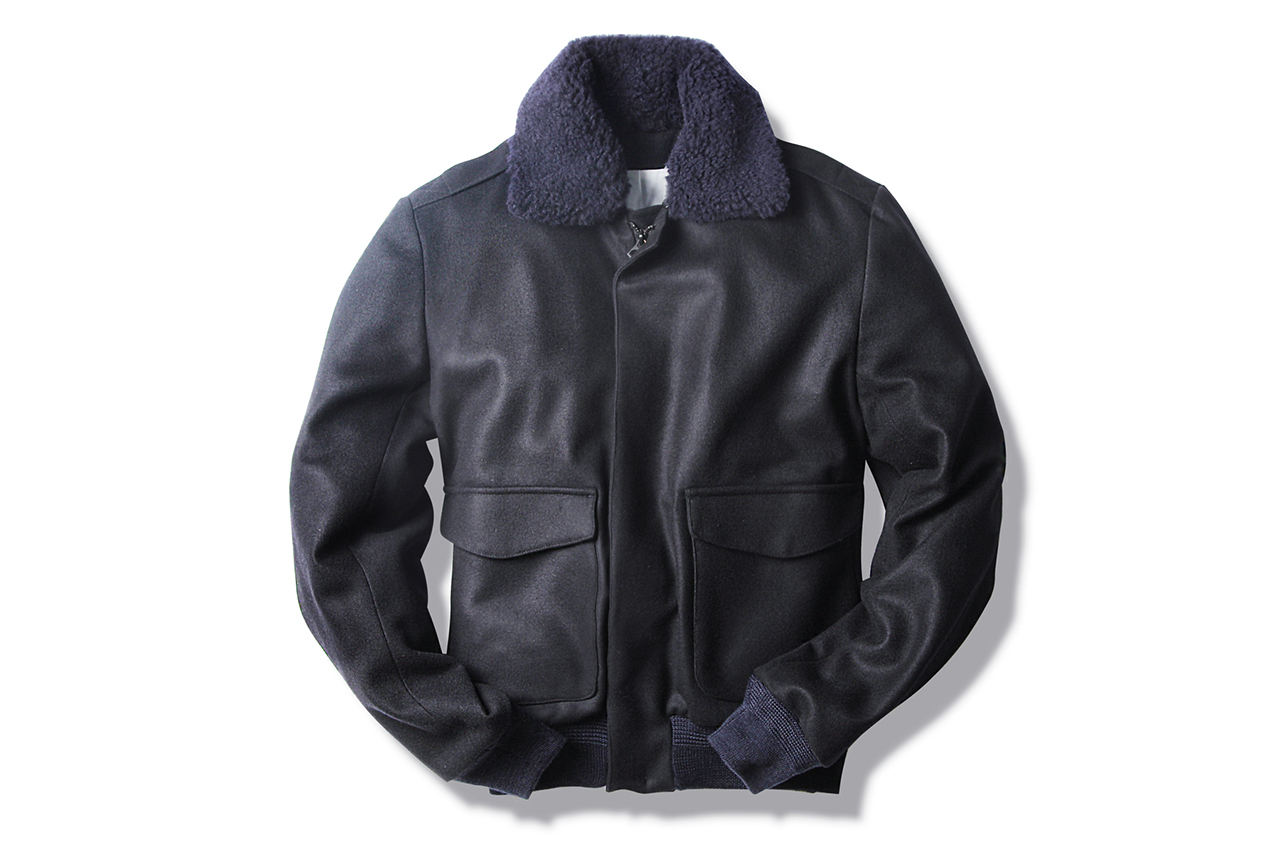 Patrik Ervell Navy/Black Aviator Jacket