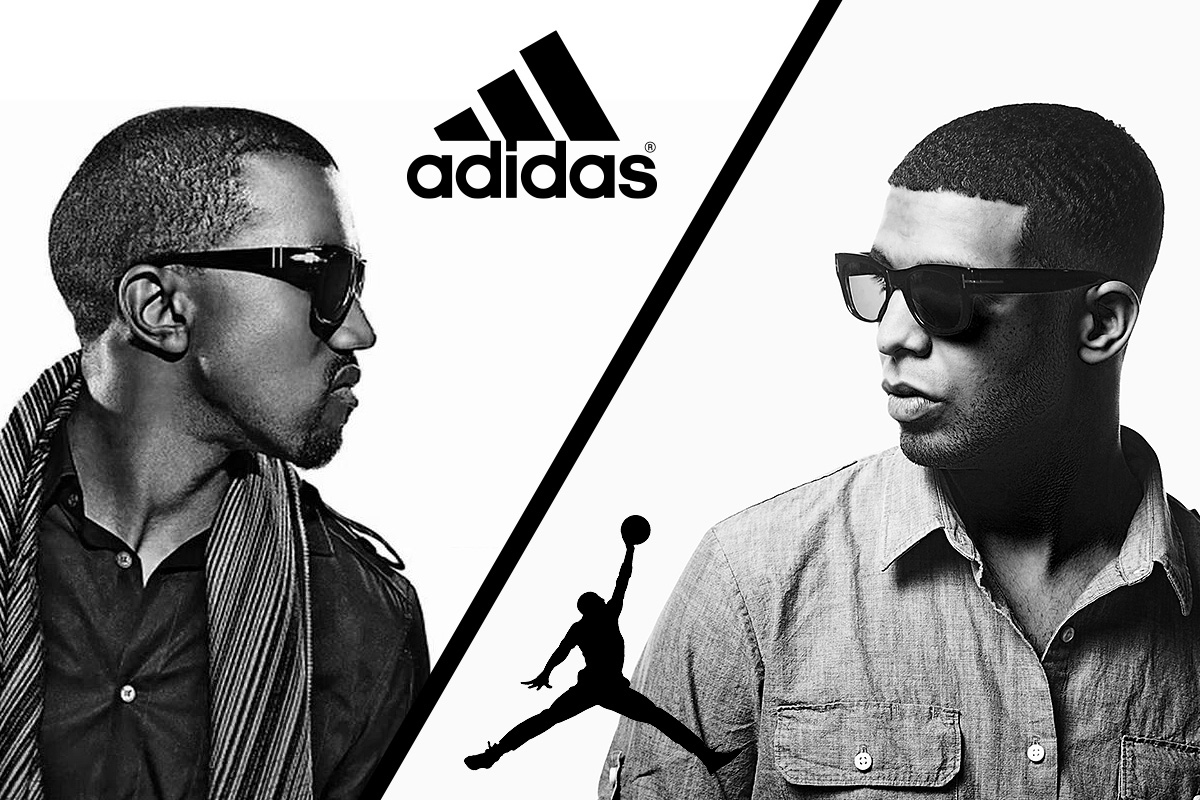 polls kanye west signs with adidas drake with jordan brand who came out on top