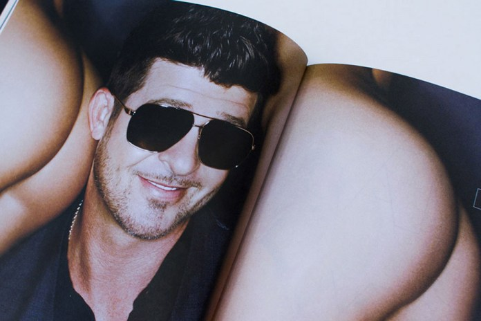 Robin Thicke on the Cover of Treats! Magazine