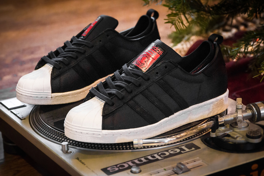 "A Further Look at the Run-D.M.C. x Keith Haring x adidas Originals ""Christmas in Hollis"" Superstar 80s"
