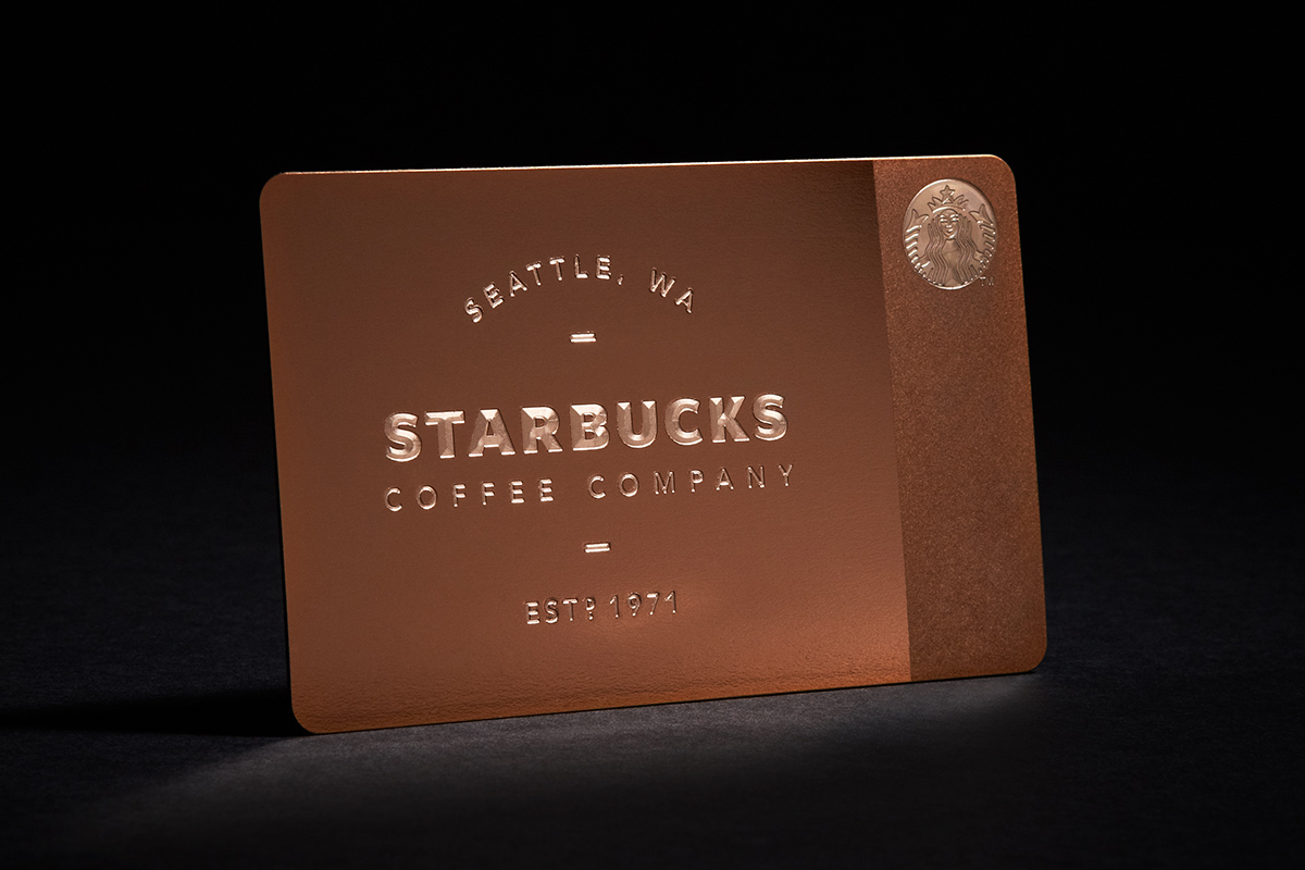 Starbucks Limited Edition Metal Gift Card for Gilt