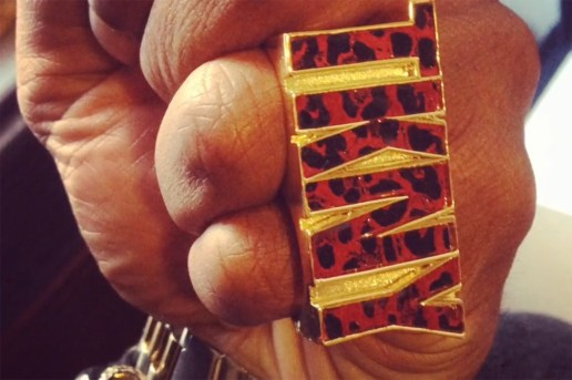 SWAGGER x Vinny Cha$e 2013 Holiday Gold Two-Finger Ring