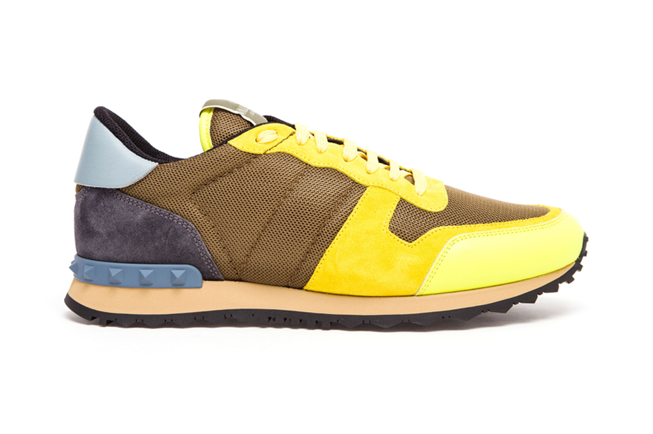 valentino contrasting suedemeshleather trainers