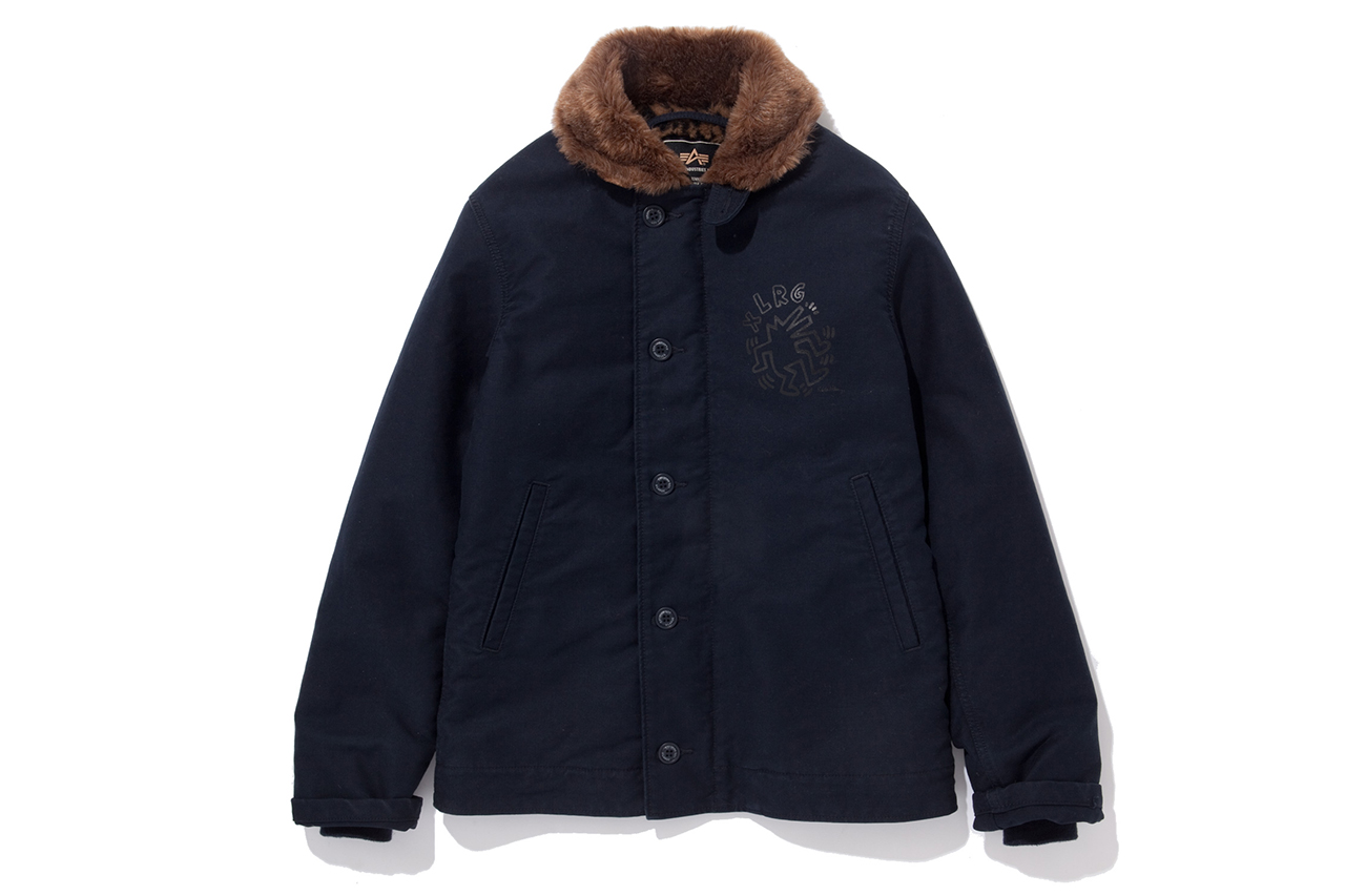 XLARGE x Keith Haring x Alpha Industries Leopard N-1 Deck Jacket