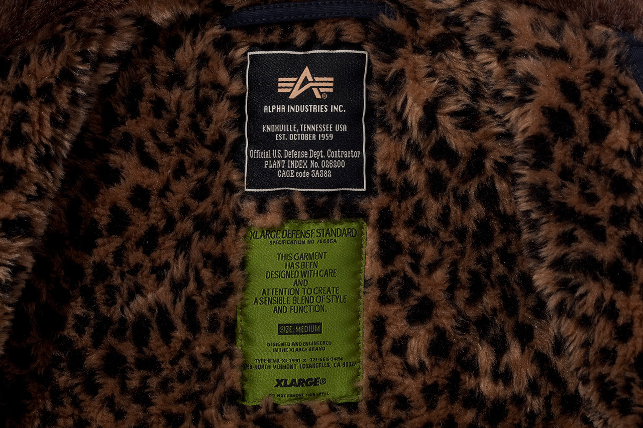 XLARGE x Keith Haring x Alpha Industries Leopard N-1 Deck Jacket
