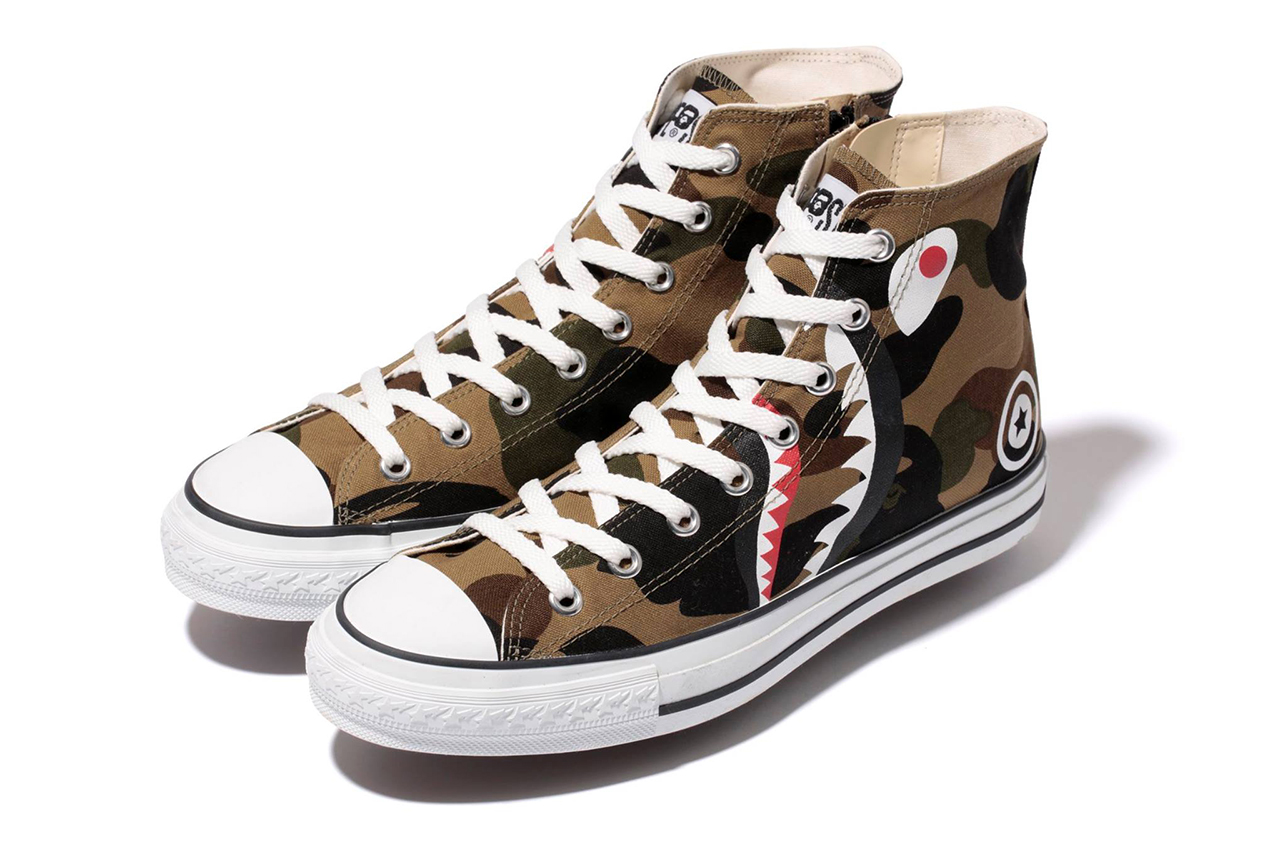 a bathing ape 2014 spring summer 1st camo shark ape sta