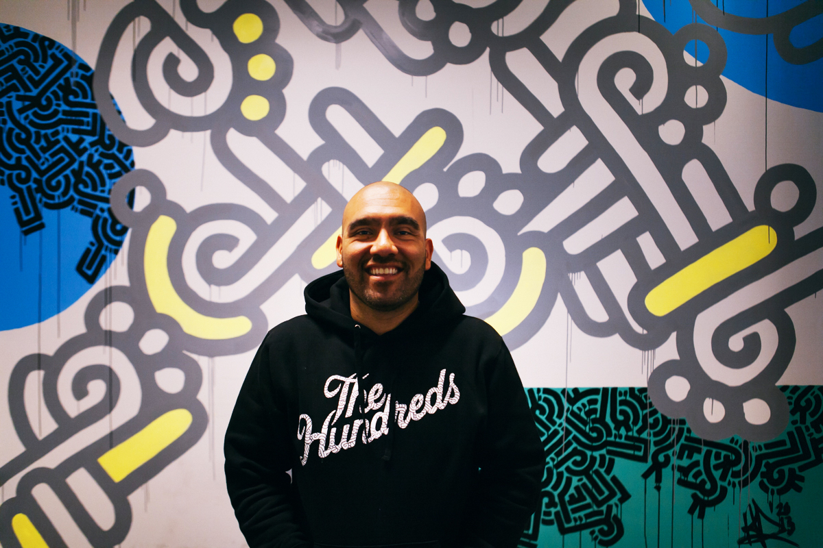 Aaron De La Cruz Paints The Hundreds Headquarters Video