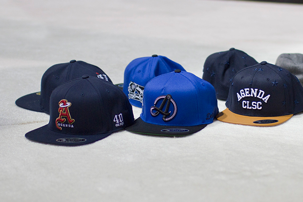 Agenda x Flexfit Hat 2014 Collection featuring Burn Rubber, 40 OZ NYC, CLSC and Basecamp