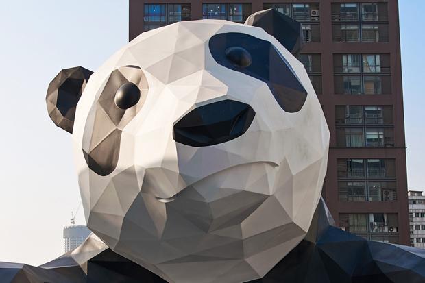 """AllRightsReserved 2014 """"I AM HERE"""" Installation @ Chengdu IFS"""