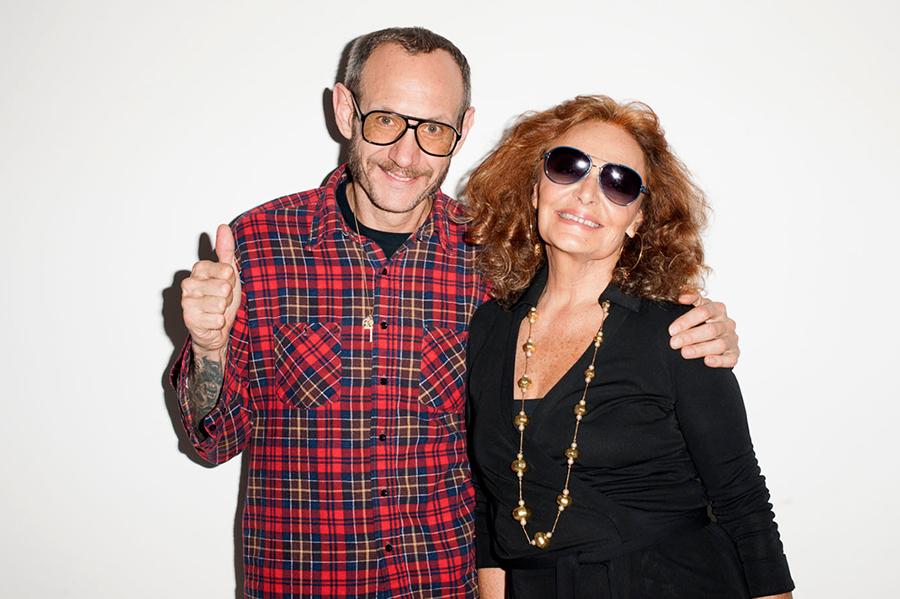 Wale, Bar Refaeli and Diane von Furstenberg Visit Terry Richardson's Studio