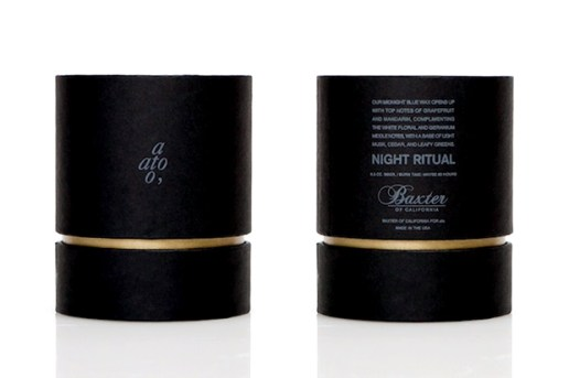 """ato x Baxter of California """"Night Ritual"""" Scented Candle"""