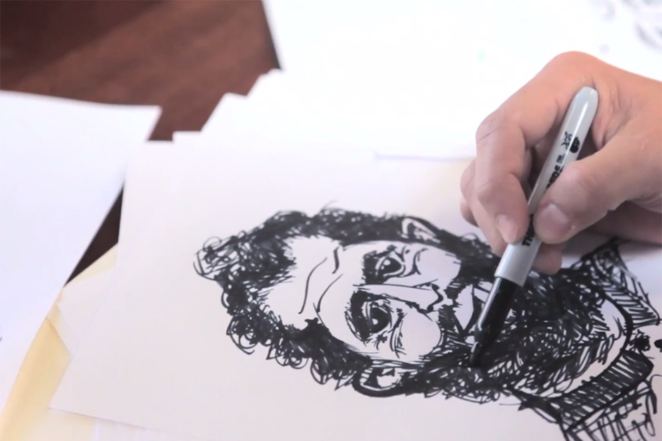 Bobby Hundreds Sketches Ben Hundreds to Show Off The Hundreds Sharpie Collection