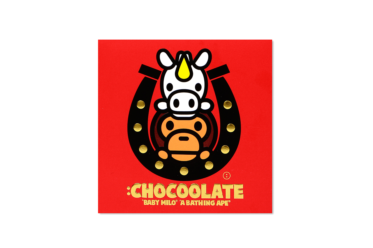 chocoolate x a bathing ape baby milo year of the horse collection