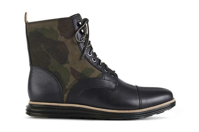 Cole Haan 2014 Spring LunarGrand Camouflage Lace Boot