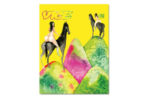 "David Choe Covers VICE Magazine's ""The Horse Is a Horse of Course of Course"" Issue"