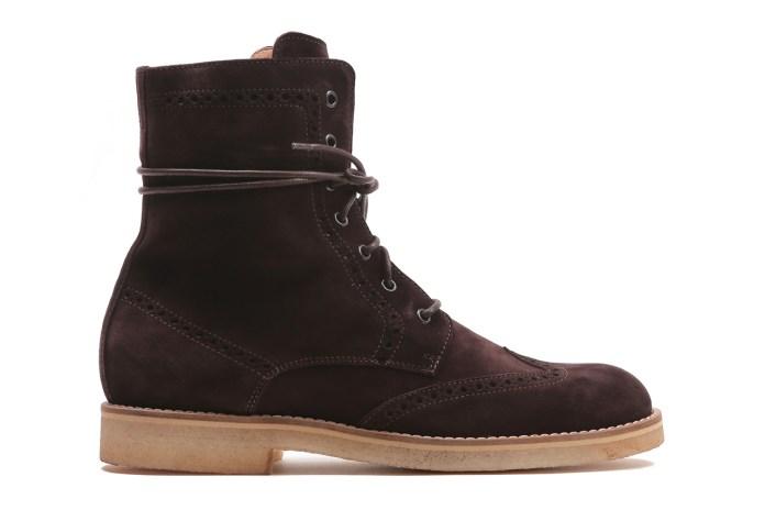 Del Toro Espresso Suede Wingtip Boots