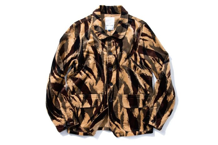 DeMarcoLab TIGER CAMO CORD. FIELD COAT