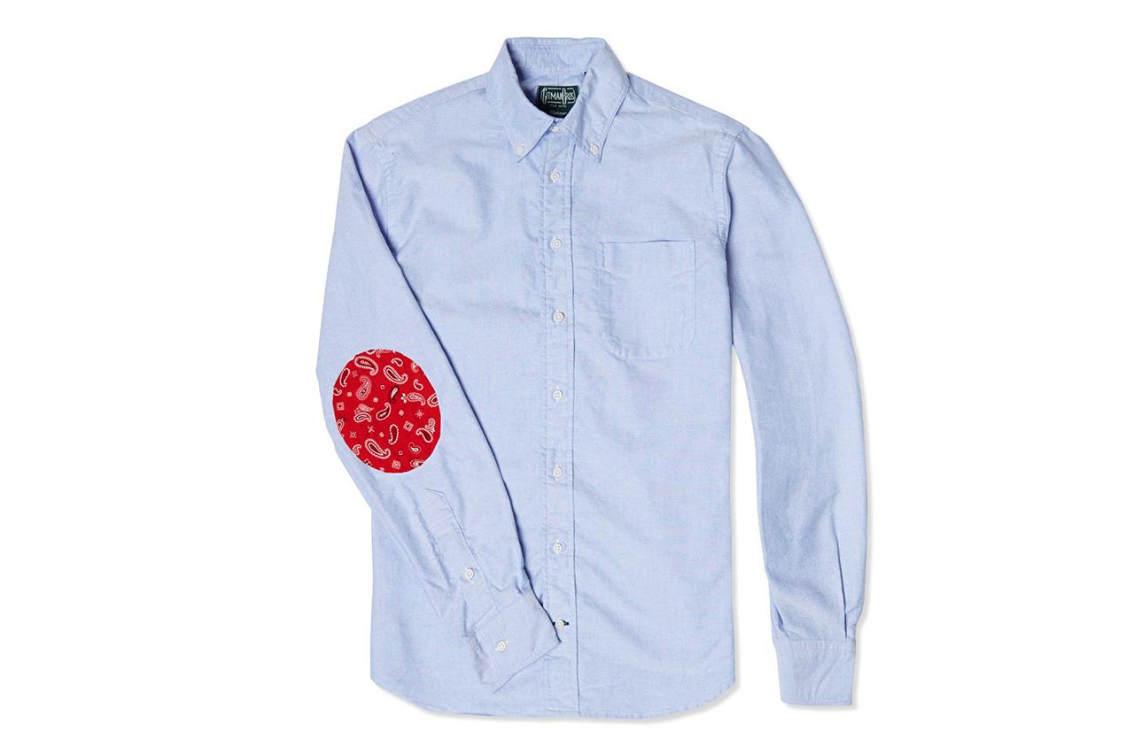 End x Gitman Vintage Elbow Patch Oxford Shirt