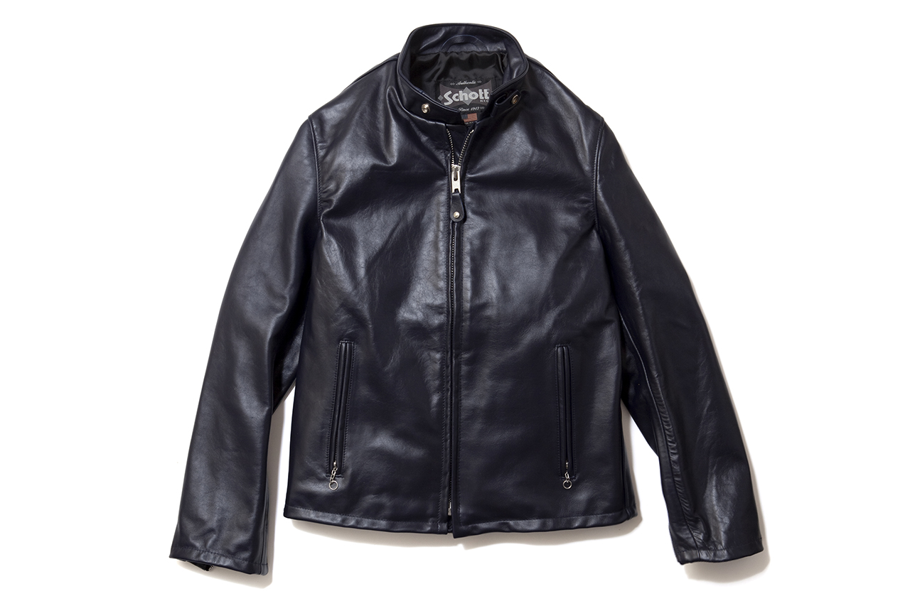 EXPANSION x Schott Cowhide Casual Racer 654 Jacket