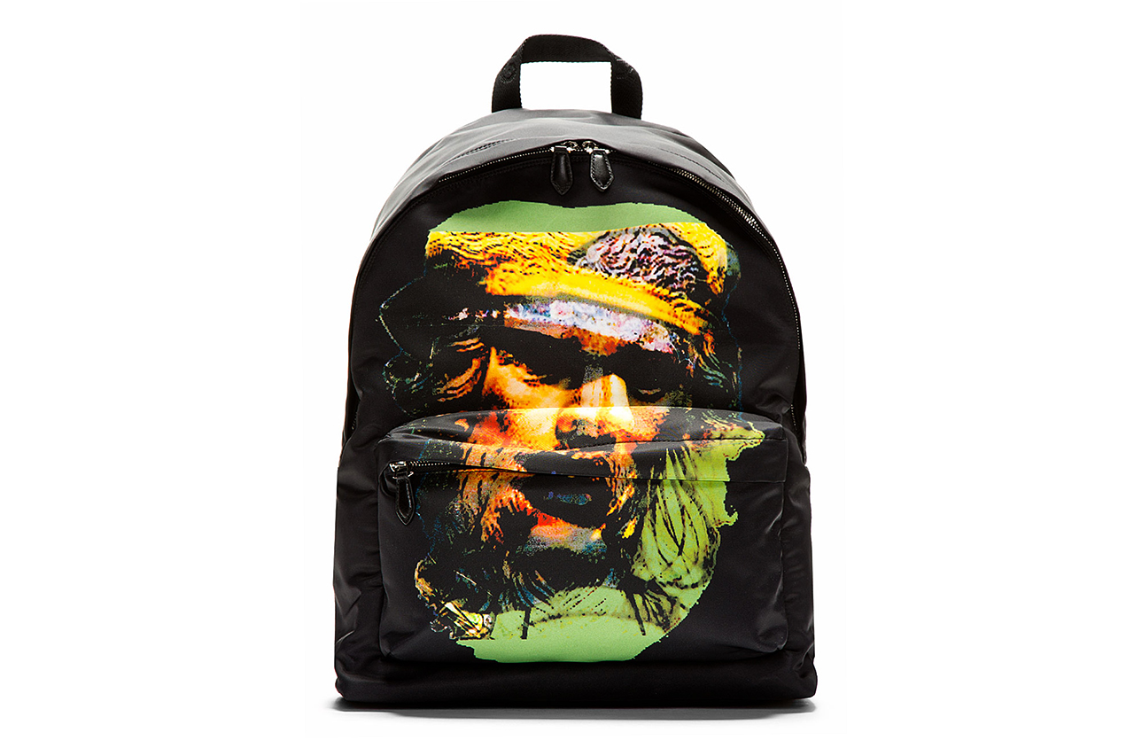 givenchy black yellow printed minotaur backpack