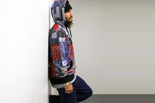 GPPR 2014 Pre-Spring Bandana Print Bandit Pullover Hoodie