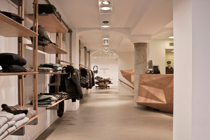 Inside the iuter Store in Milan, Italy