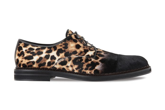 Jimmy Choo Pony-Haired Leopard Lace-Ups