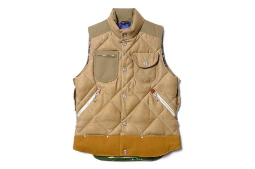 "Junya Watanabe MAN x Duvetica ""Marsia"" Cotton Moleskin Paraffin Down Feather Vest"
