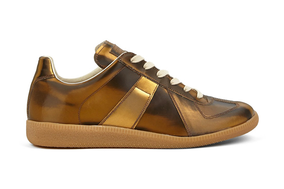 Maison martin margiela 22 gold replica sneakers hypebeast for Replica maison martin margiela