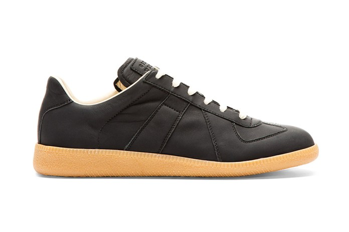 Maison Martin Margiela Matte Black Leather Replica Sneakers