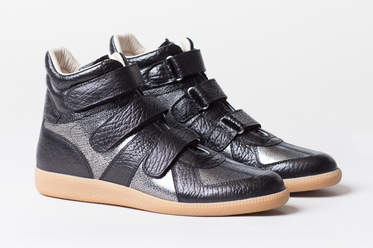maison martin margiela metallic crackle sneaker hypebeast. Black Bedroom Furniture Sets. Home Design Ideas