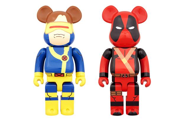 marvel x medicom toy 400 deadpool cyclops bearbrick