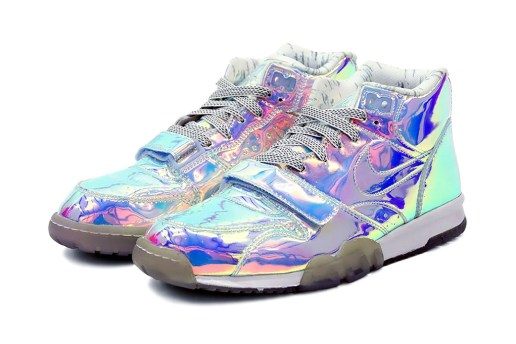 """Nike 2014 Air Trainer """"Silver Speed"""" Pack for Super Bowl XLVIII"""