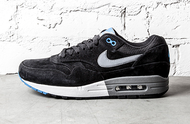 nike air max 1 prm black n blue