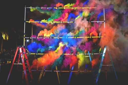 "Olaf Breuning ""Smoke Grid"" @ Art Basel Miami"