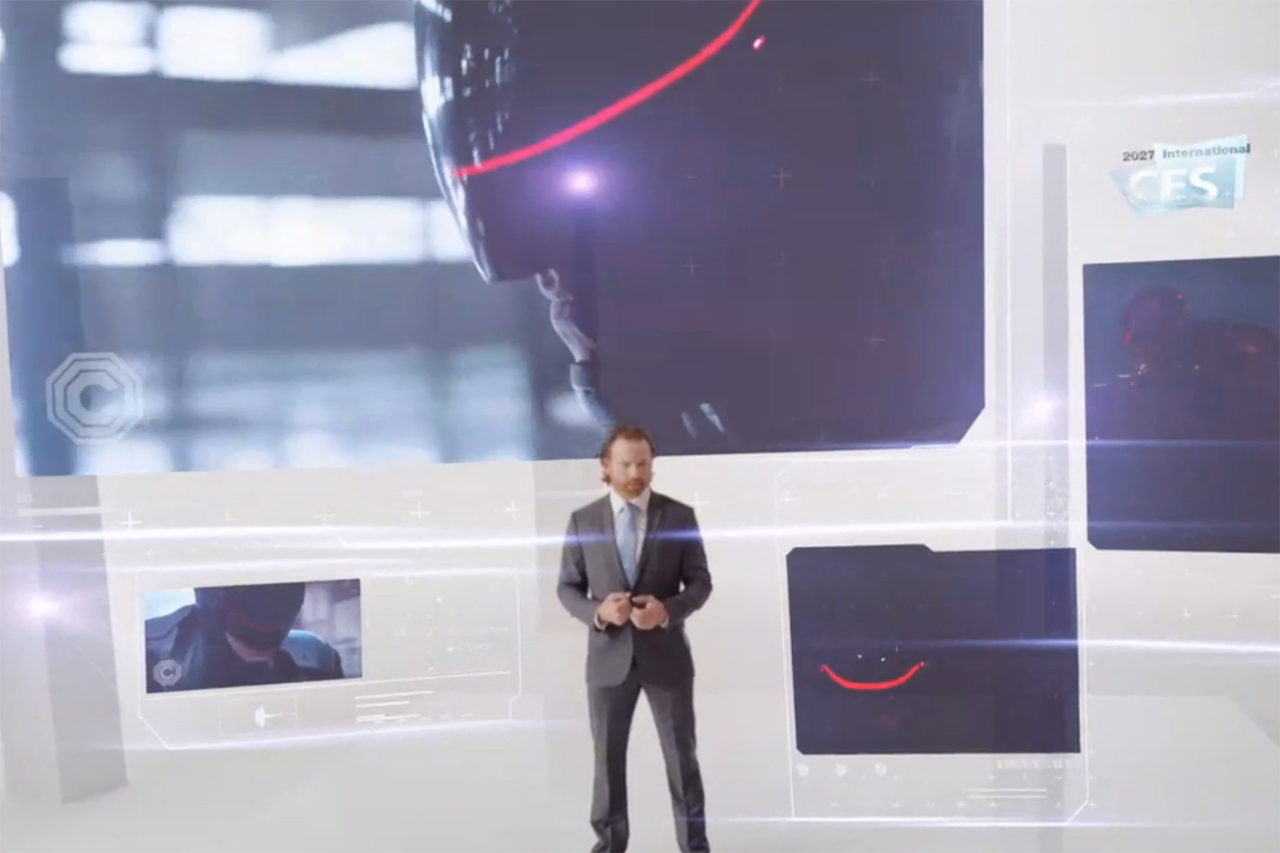 OmniCorp's CES 2027 Presentation Unveils RoboCop to Public