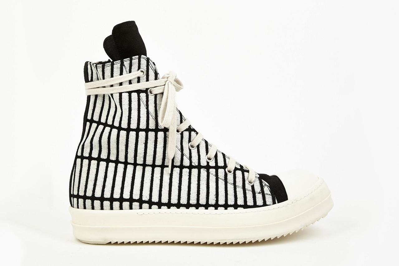 rick owens drkshdw 2014 spring summer printed ramones sneakers