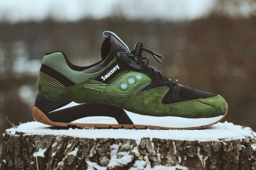 Saucony 2014 Spring Grid 9000 Dark Green