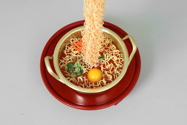 Seung Yul Oh's Unique Resin Noodle Sculptures
