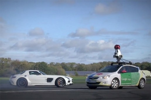 Top Gear's The Stig vs. a Google Street View Car