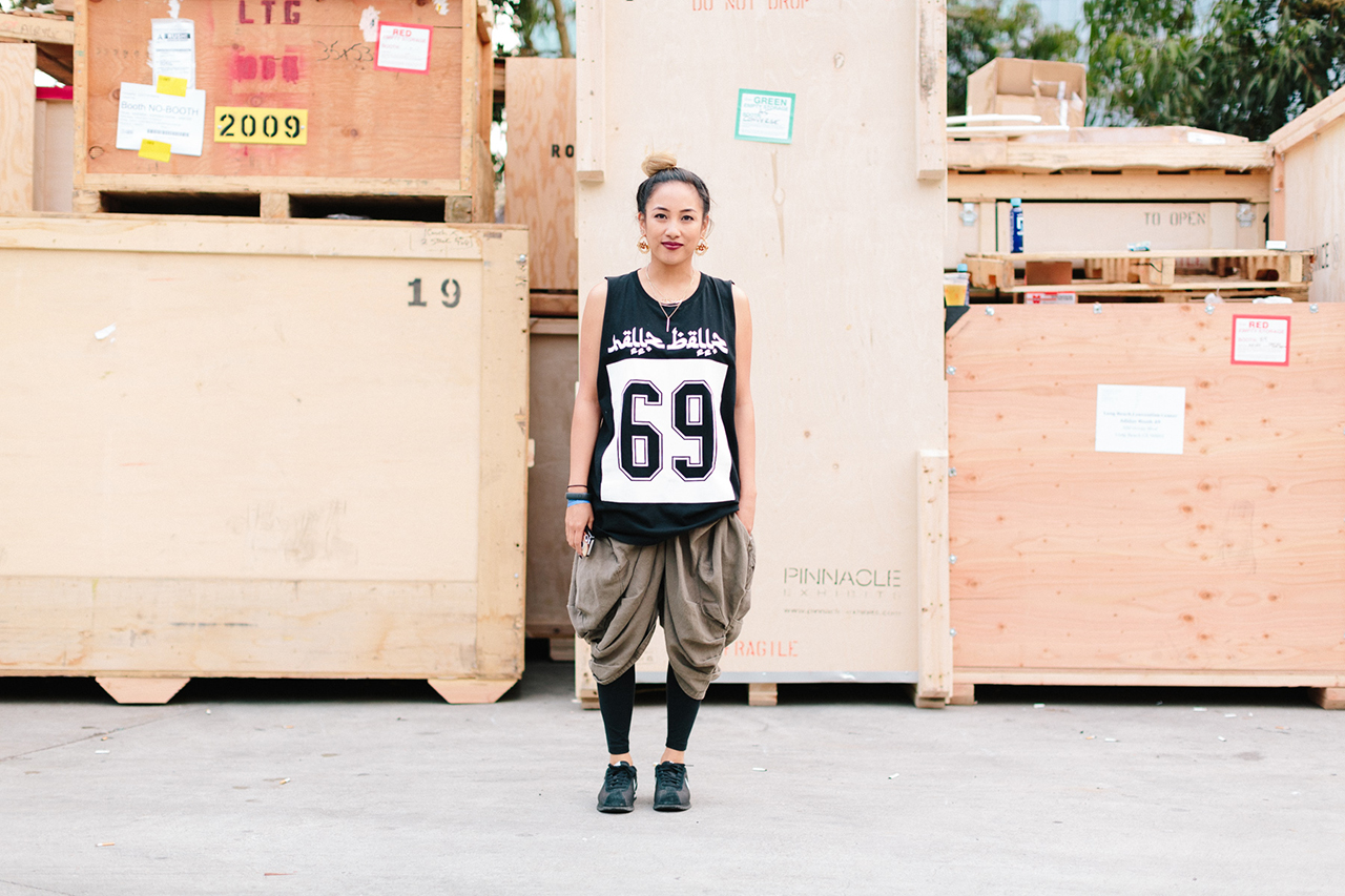 Streetsnaps: Lanie Alabanza at Agenda Long Beach