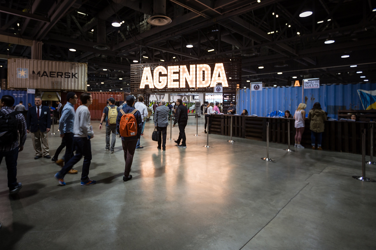the tradeshow grind a day with andy song of flexfit at agenda long beach
