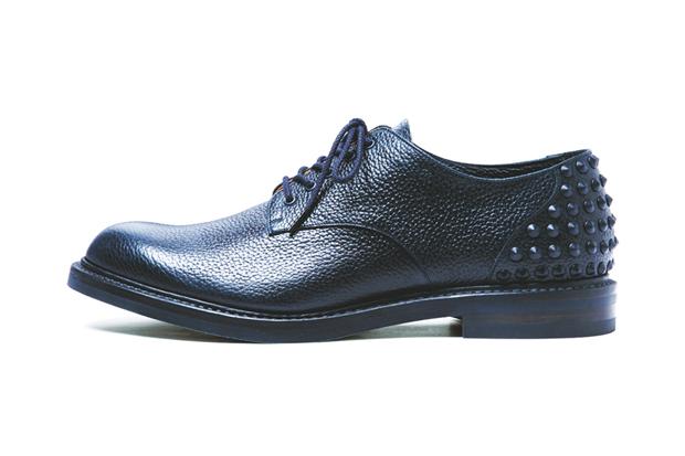 uniform experiment 2014 Spring/Summer Plain Toe Heel Studs Shoes