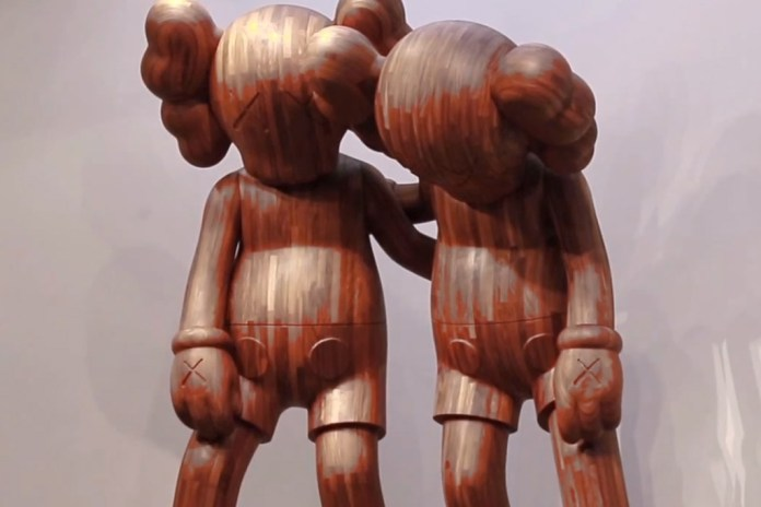 Up Close and Personal with KAWS's Massive Wooden Companion Sculptures