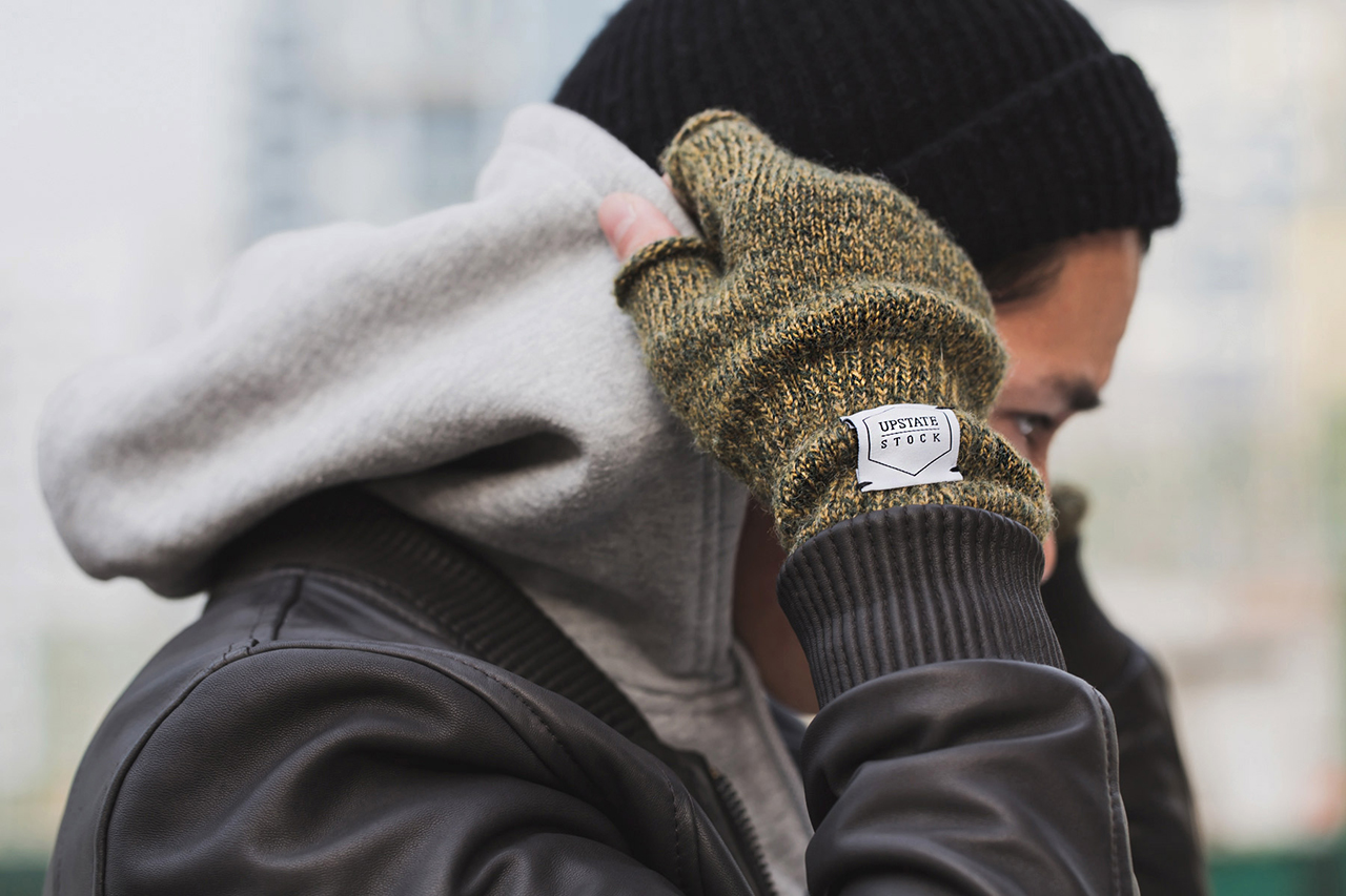 Upstate Stock Ragg Wool Fingerless Glove