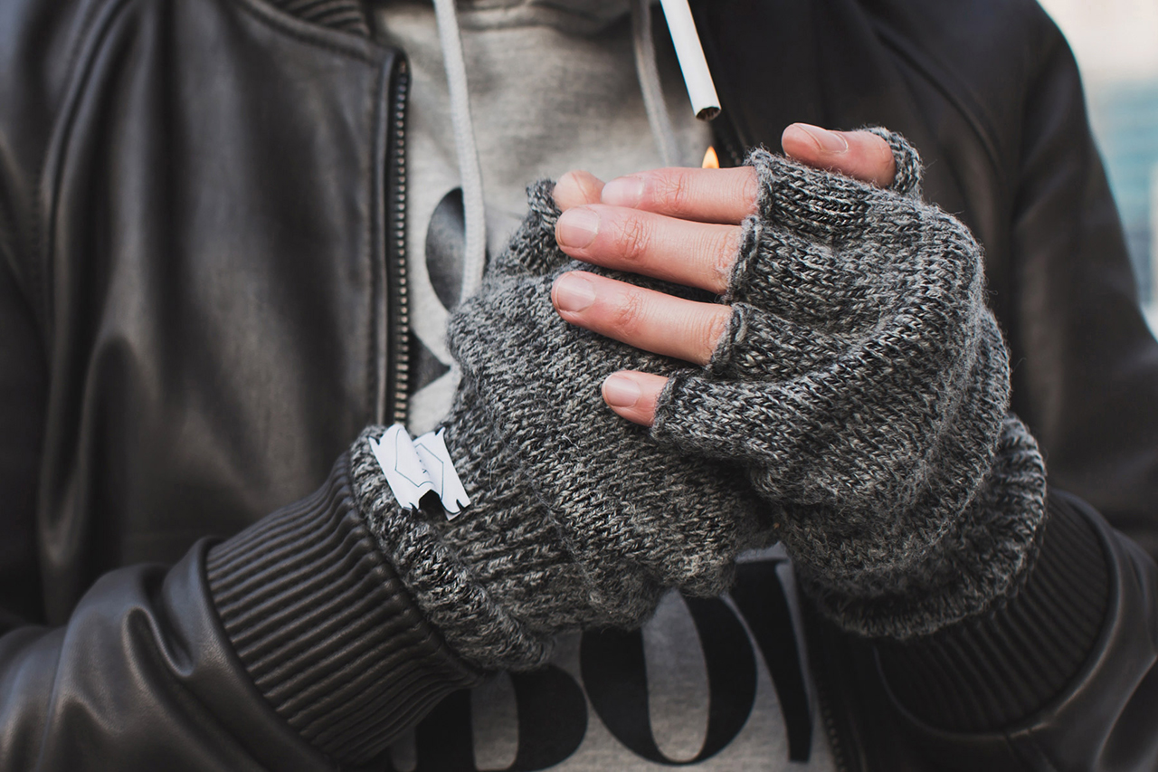 Upstate Stock Ragg Wool Fingerless Glove